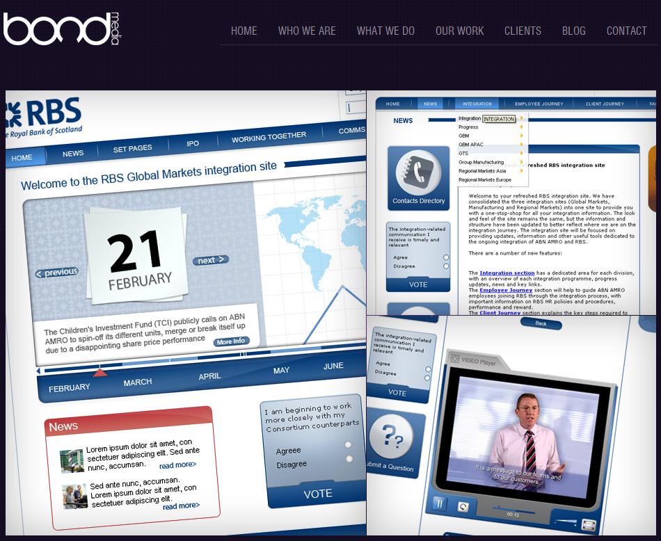 Royal Bank Of Scotland Interactive Timeline Content Management