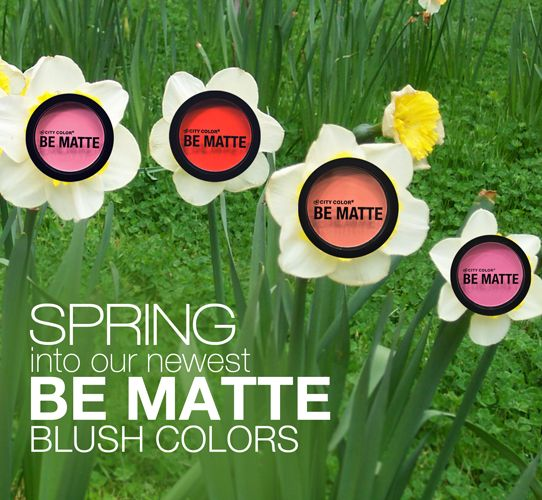 Freshen your look for Spring with new Be Matte Blush colors. Each for only $2.99! Shop now : http://bit.ly/1imzrOk  #makeup #beauty #blush #makeupartist #springtime #bbloggers #citycolorcosmetics