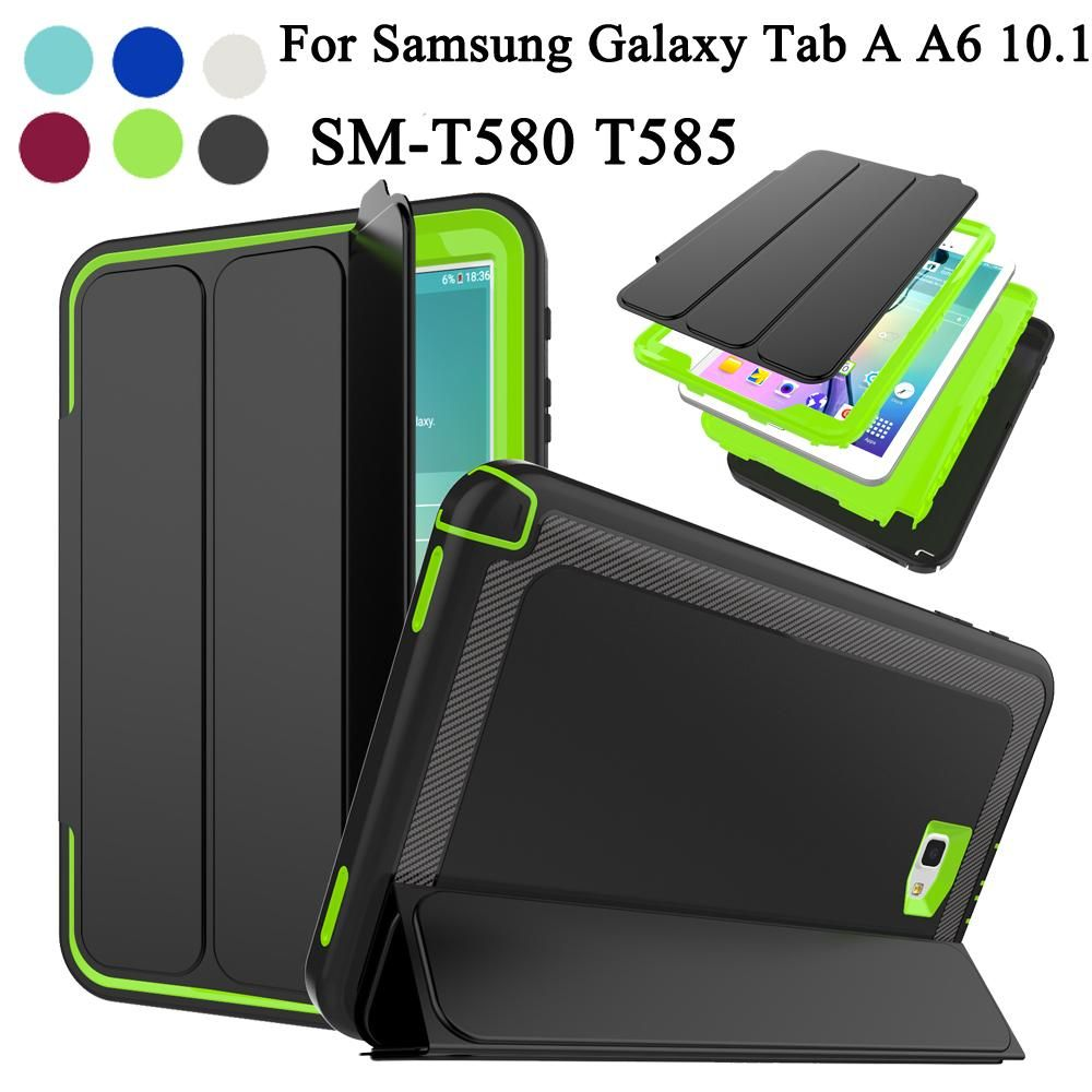 designer fashion c8258 bcf8c Samsung Galaxy Tab A6 10.1 T580 T585 T581 Kids Safe Armor Hard Case ...