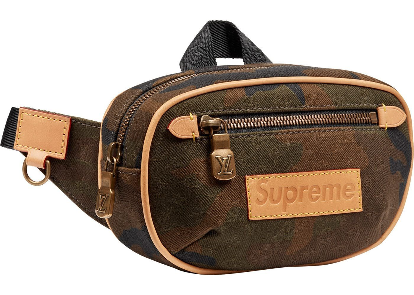 9f58628430f6 Louis Vuitton x Supreme Bumbag Monogram Camo PM Camo in 2019 ...