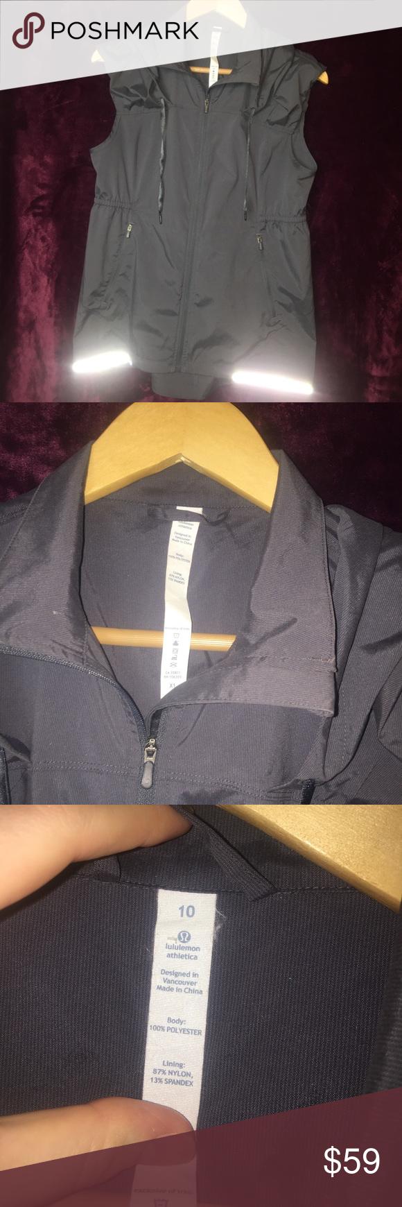 LuLuLemon Reflective ZipUp Vest with Hood (8/10) Brand