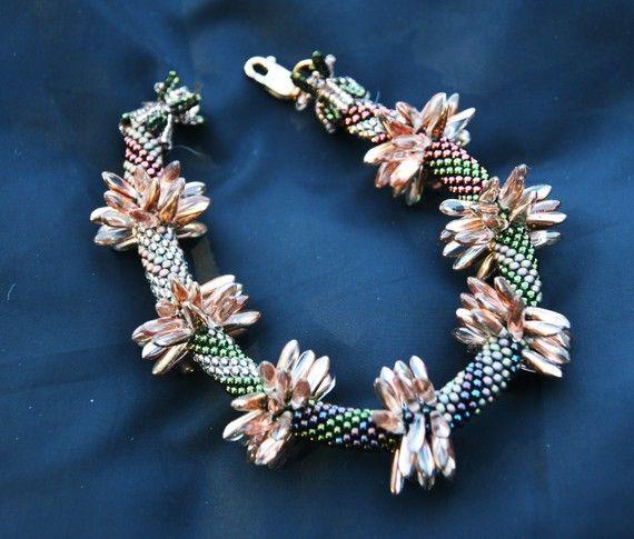 Bead Crochet Pattern Dagger Bracelet or door WearableArtEmporium, $7.50