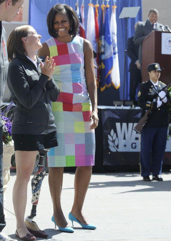 Michelle Obama Repeats Preen Dress