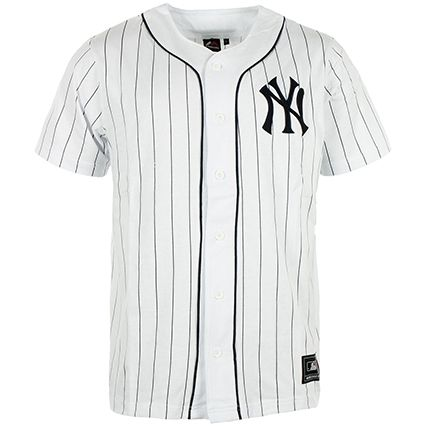 maillot de baseball majestic athletic regis new york yankees blanc. Black Bedroom Furniture Sets. Home Design Ideas