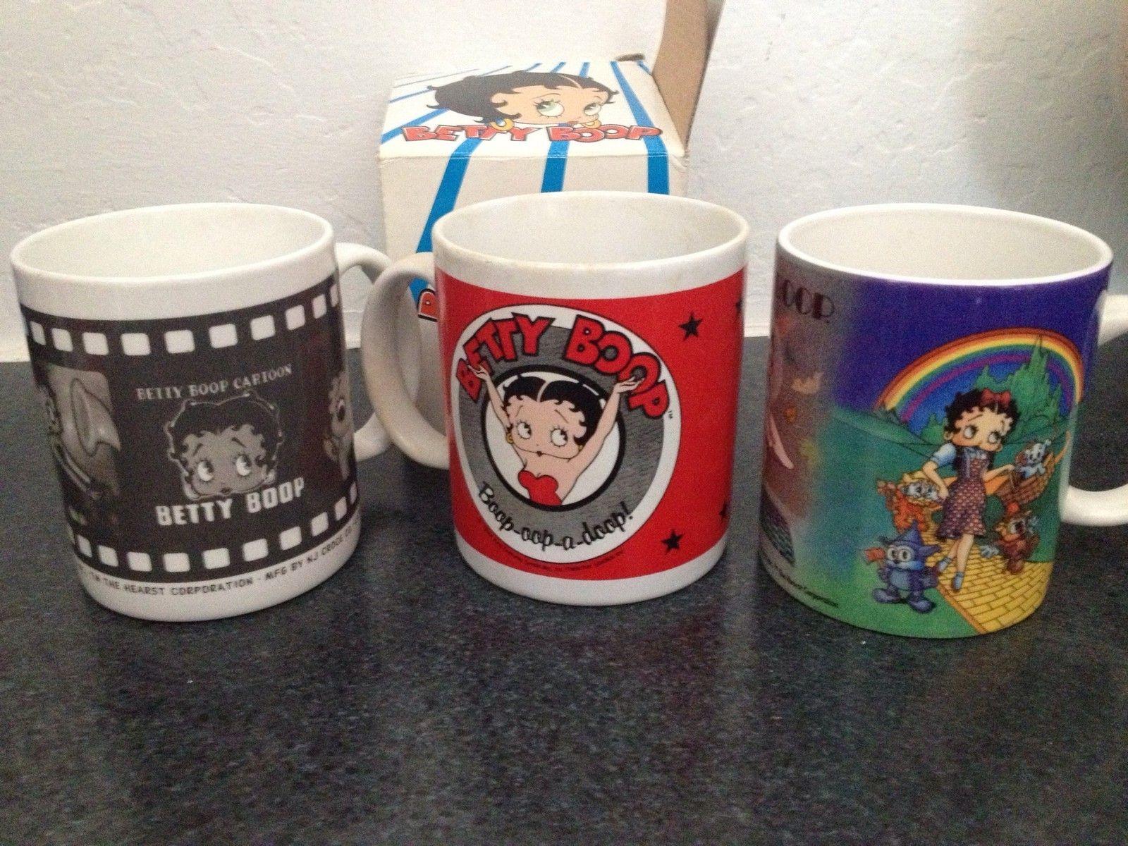 3 New Betty Boop Coffee Mugs Betty Boop Coffee Betty Boop Boop