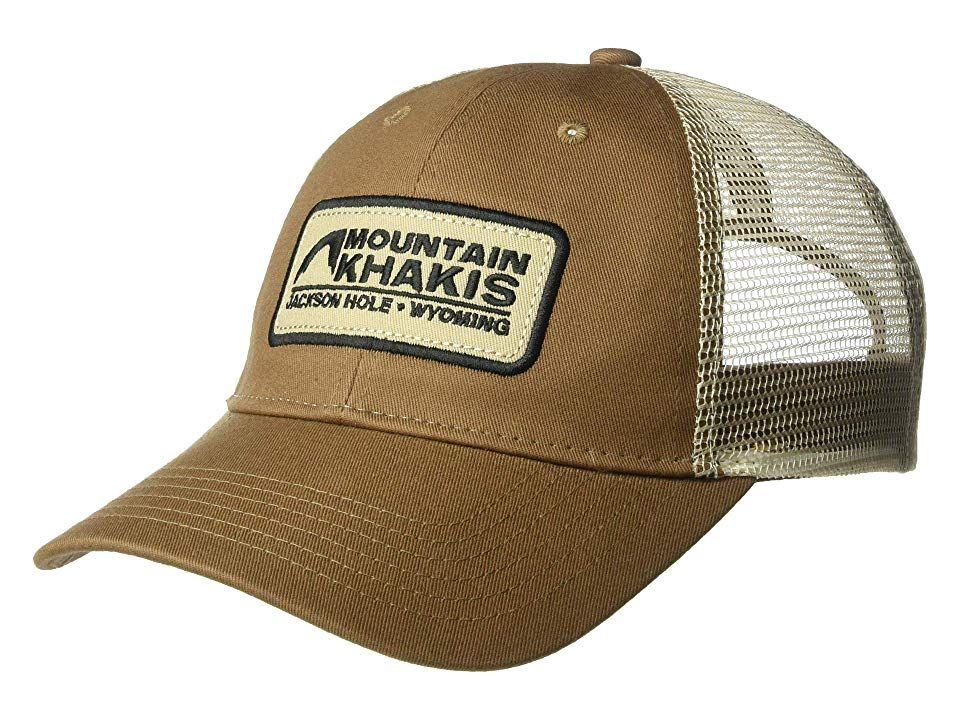 29c0d6b82030 Mountain Khakis Soul Patch Trucker Cap (Legacy Brown) Caps. Stay covered on  those