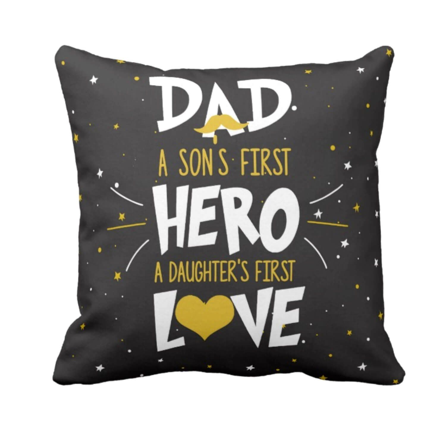 Buy Yaya Cafe Fathers Day Gifts From Son And Daughter Sons Hero Daughters Love Dad Cushion Cover