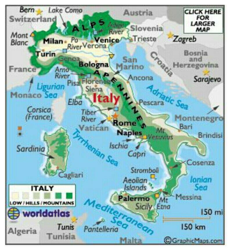 Map Of Italy Italien Karte Insel Capri Italien Reisen