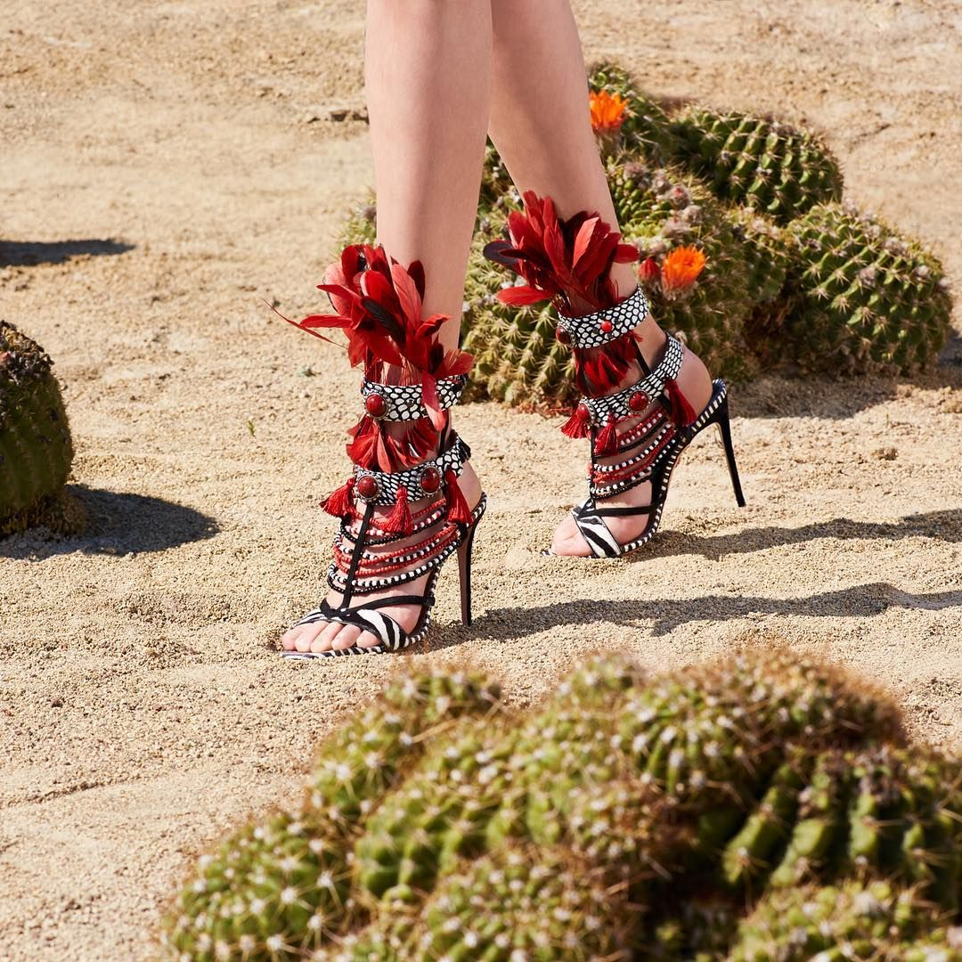 "AQUAZZURA by Edgardo Osorio (@aquazzura): ""Statement heels for the wild girl. 'The Voo Doo Sandal' are available at AQUAZZURA.COM…"""