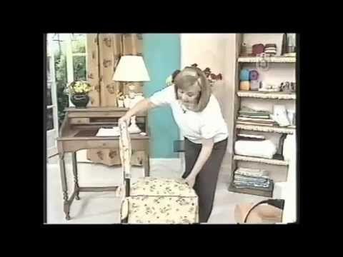 Puntos y Puntadas 83. Realizar una Funda para Silla. Gladys Alvarado. - YouTube