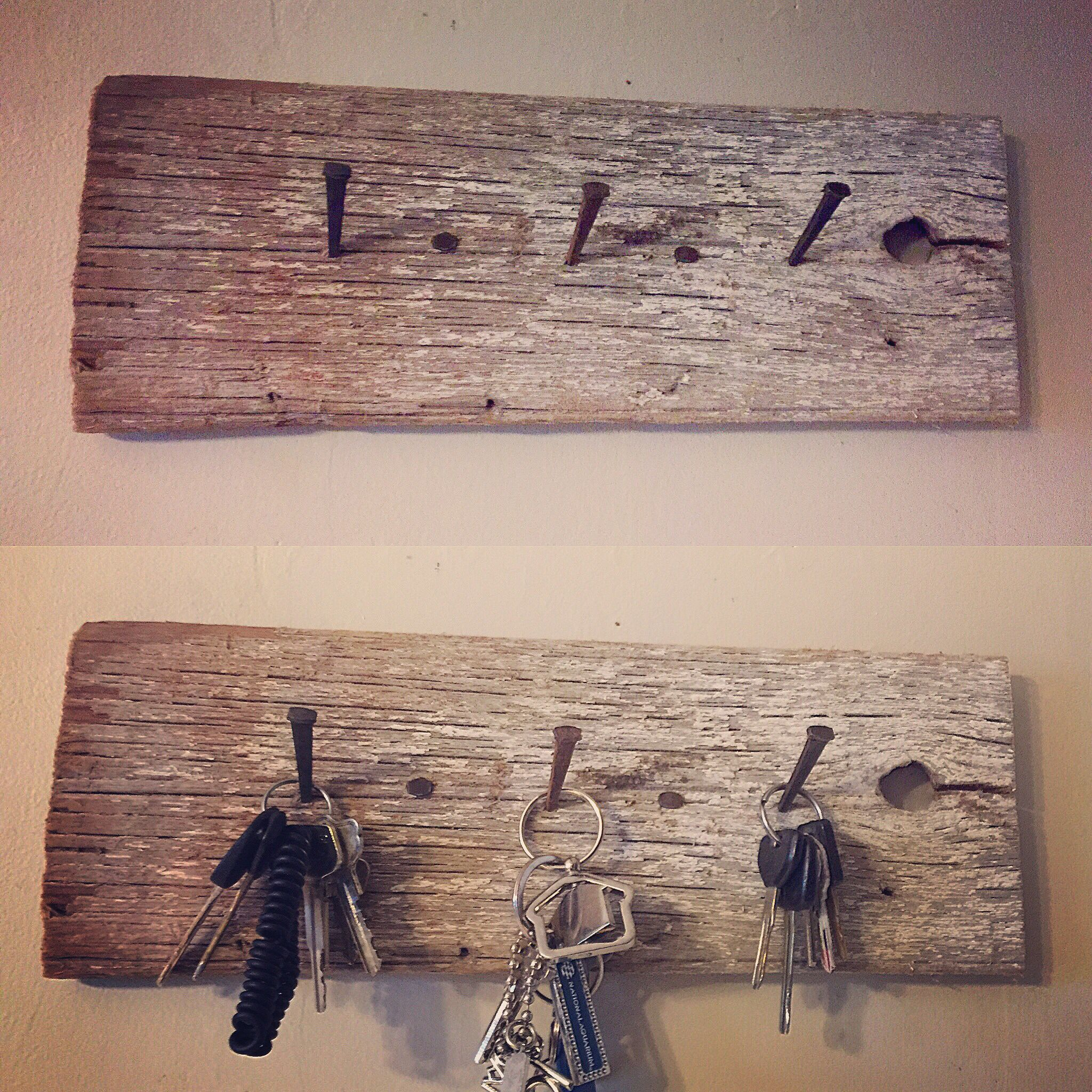 Rustic Key Hook Rustic Keys Key Holder Diy Key Hook Diy