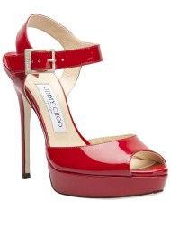 09f6652f9c41 Jimmy Choo Linda Peep Toe Sandal in Red   JiMMy ChOo   Jimmy choo ...