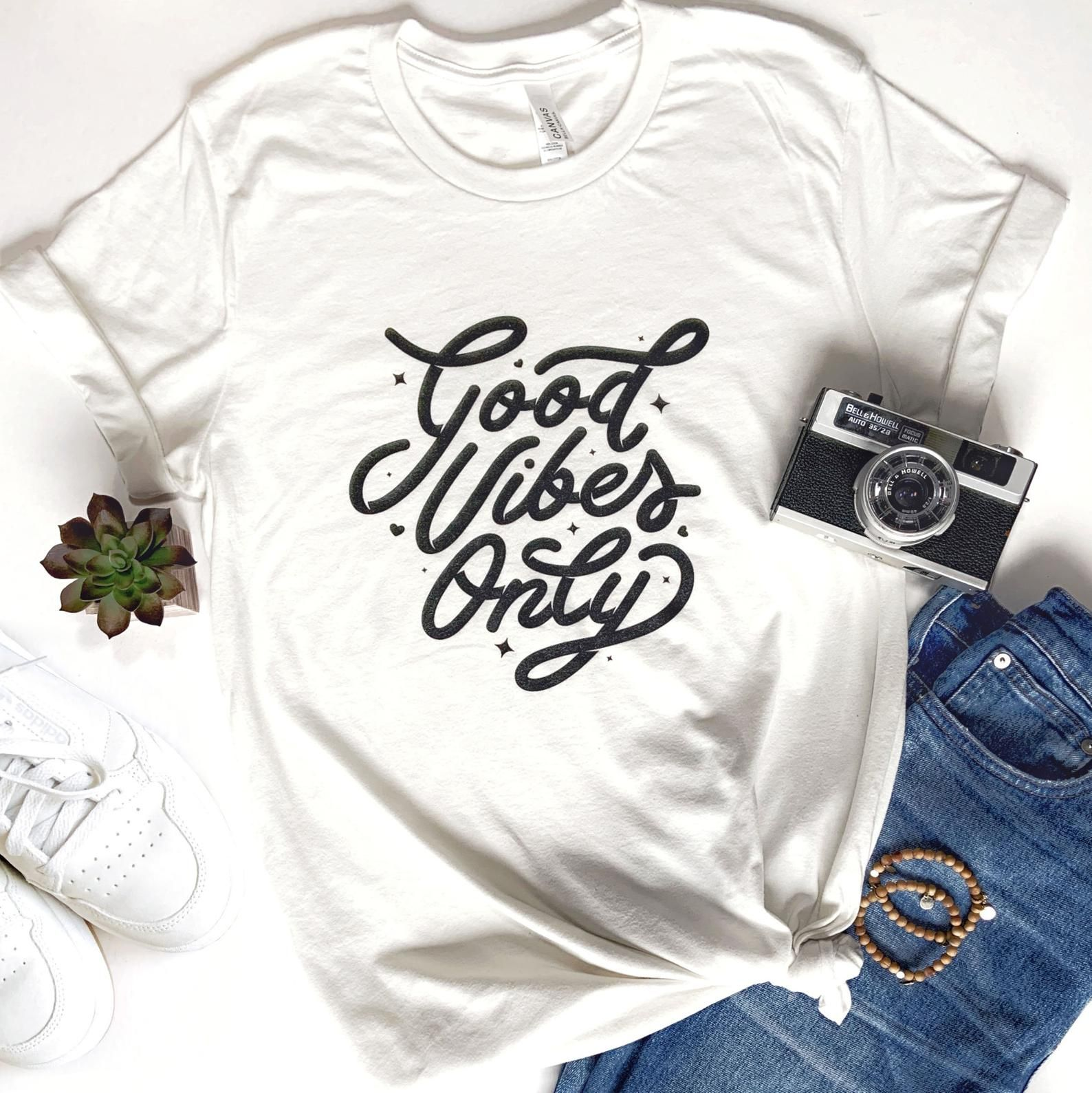 Good Vibes Only T-Shirt  Women's Shirt  Graphic Tee  | Etsy