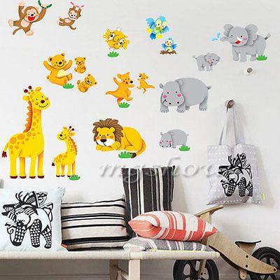 Diy Jungle Animal Wall Decor Vinyl Decal Sticker Removable Nursery