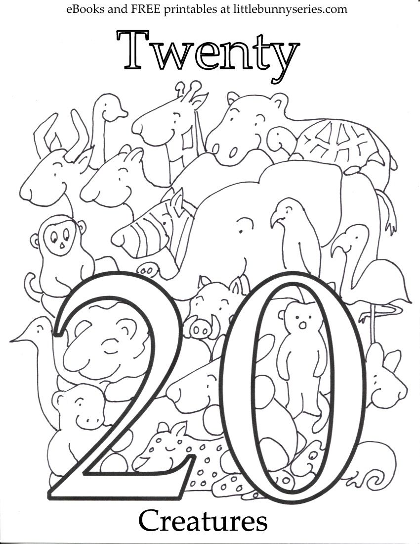 Number 20 Coloring Page Pdf Kids Worksheets Preschool Free