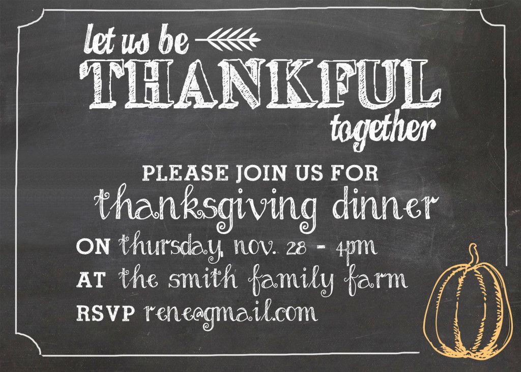 customizable thanksgiving invitation thanksgiving pinterest