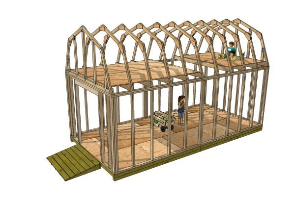 10x16 Barn Shed Plans Shed With Loft Shed Plans Storage Shed Plans