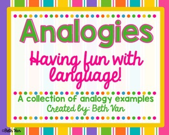 Analogies Poster Examples And Small Center Upper Elementary