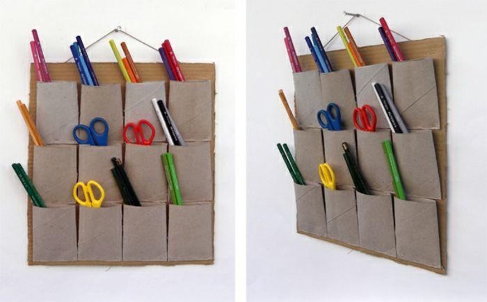 comment recycler le rouleau de papier toilette id es originales rouleau papier. Black Bedroom Furniture Sets. Home Design Ideas