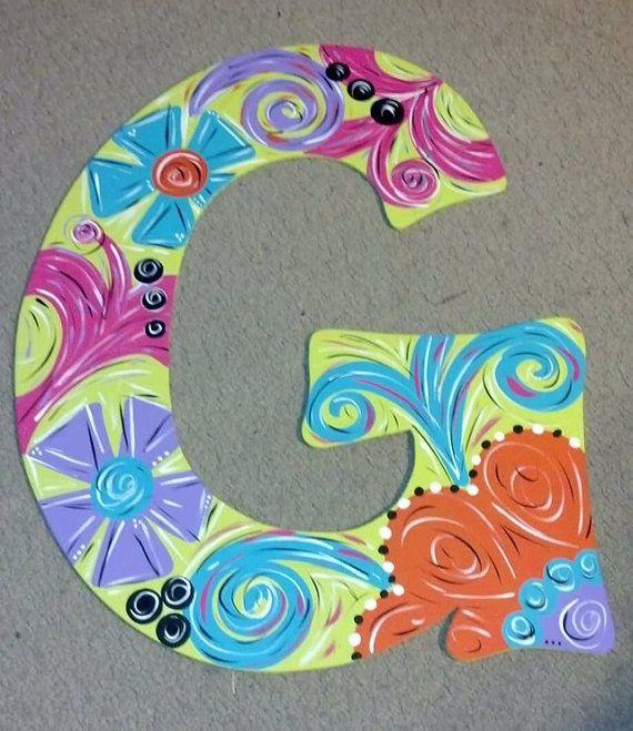 Spring / Summer Floral Letter Door Hanger