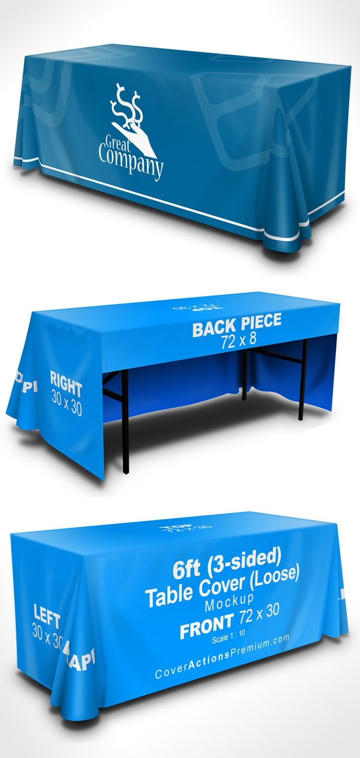 Table Cover Mockup 6 Ft 3 Sided Loose Cover Actions Premium Mockup Psd Template Psd Templates Mockup Photoshop Mockup Design