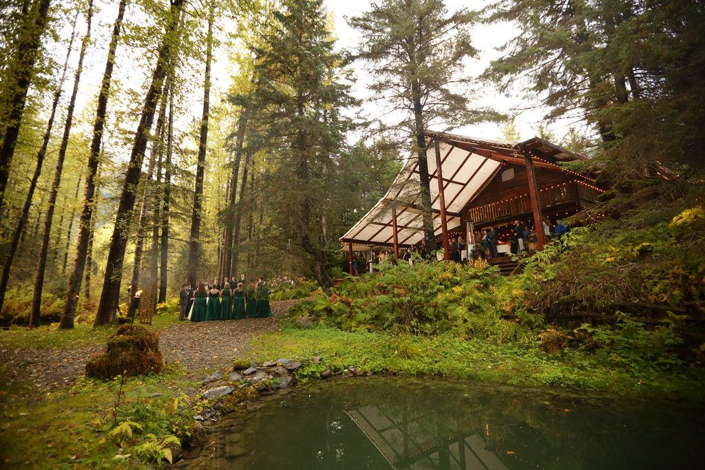 Raven Glacier Lodge - this is where the wedding will be - to give you an idea.