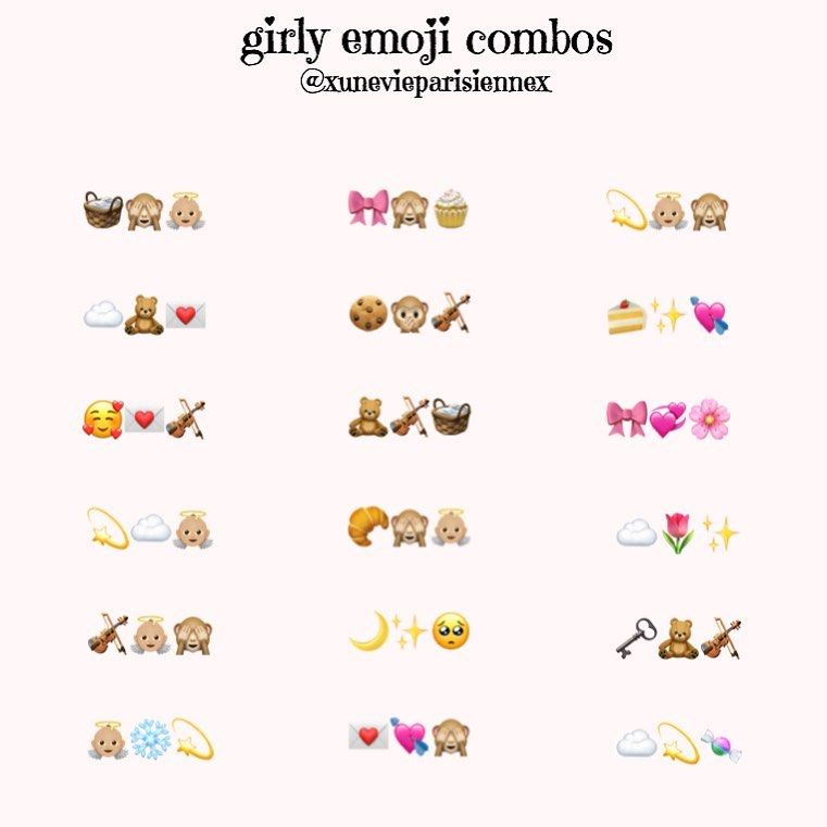 On Instagram Girly Emoji Combos I Always Use Emojis As I M Sure Most Of You Do And T In 2020 Emoji Combinations Cute Emoji Combinations Instagram Emoji