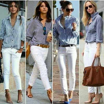 Aprende Cómo Combinar Tus Pantalones Blancos Con Estos 18 Outfits De Moda Manoslindas Com White Pants Outfit Casual Outfits Clothes For Women