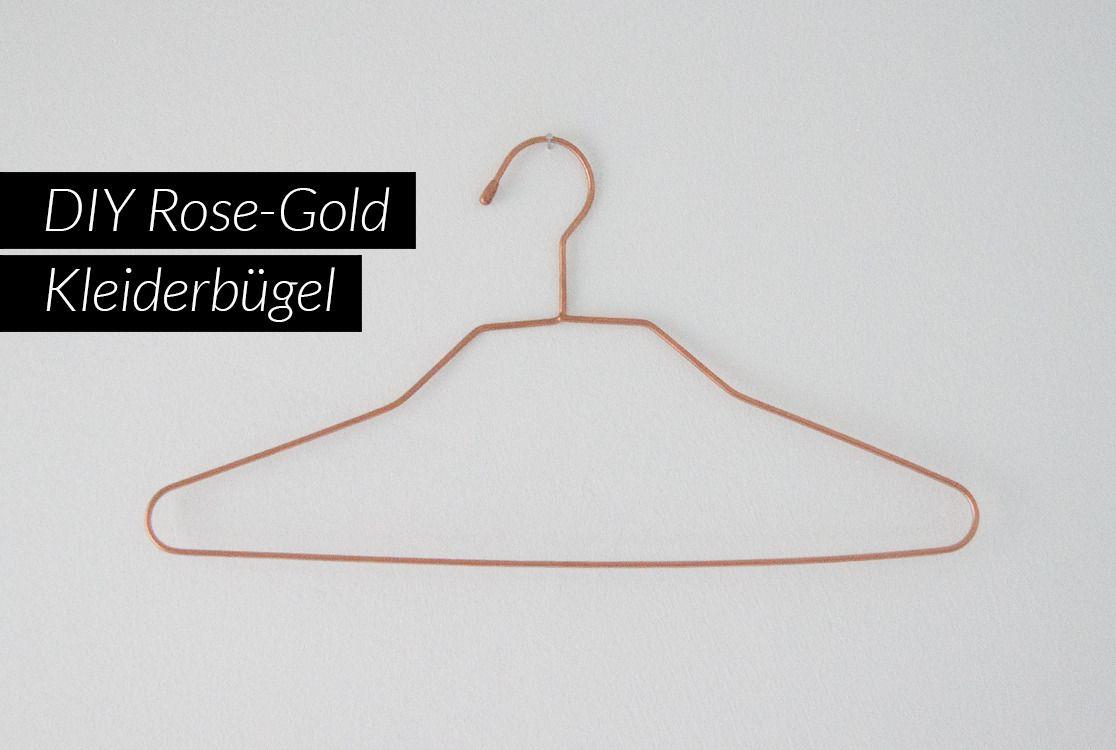 diy rose gold kleiderbügel | sprühlack, begehbarer schrank und