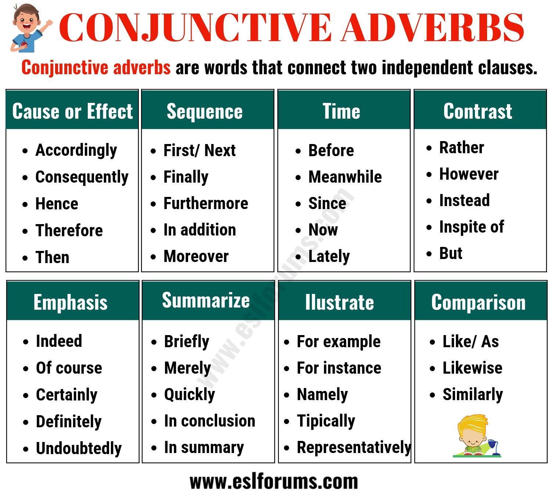 Conjunctive Adverbs Worksheet   Printable Worksheets and Activities for  Teachers [ 1350 x 1500 Pixel ]
