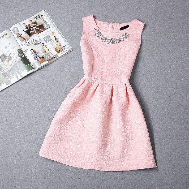 A-Line Printing Sleeveless Casual Dress | Vestido formal, Vestiditos ...
