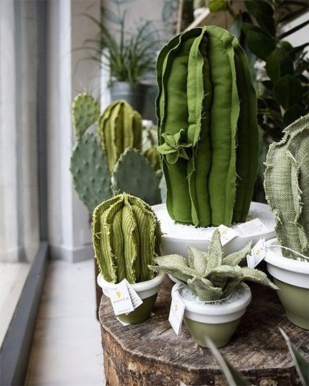 HOME-DZINE | Cactus craft ideas - And for those who love to sew... there are plenty of crafty ways to use fabric scraps to make your own cactus home decor accessories. #cactuscraft