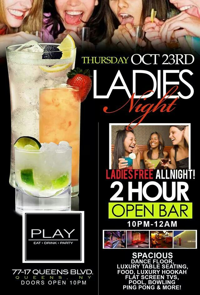 Hey, after the rain tonight, join me for Ladies Night!