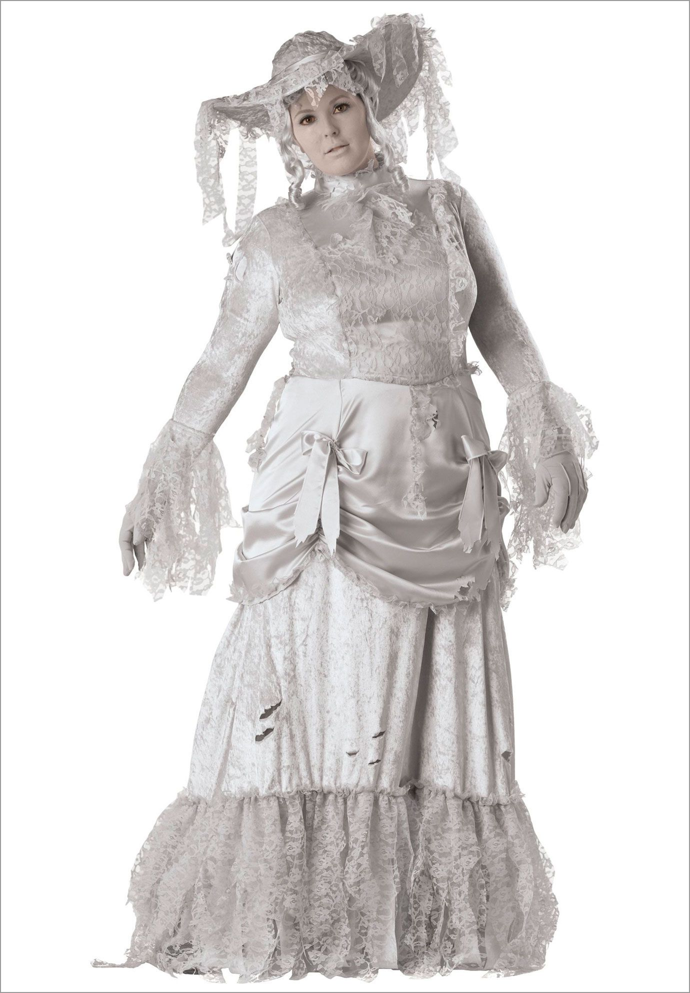 Ghostly Lady Elite Plus Size Adult Halloween Costume
