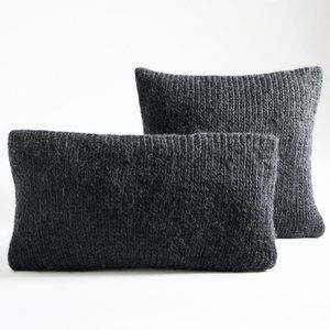 housse de coussin tricot knitty gris anthracite salon sejour pinterest housse de coussins. Black Bedroom Furniture Sets. Home Design Ideas