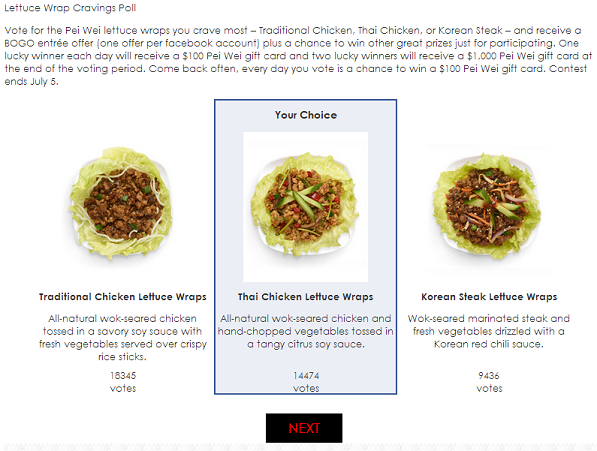 Easy Way To Get A Free Pei Wei Entree & Maybe Win Gift Cards. Ends July 5, 2013!