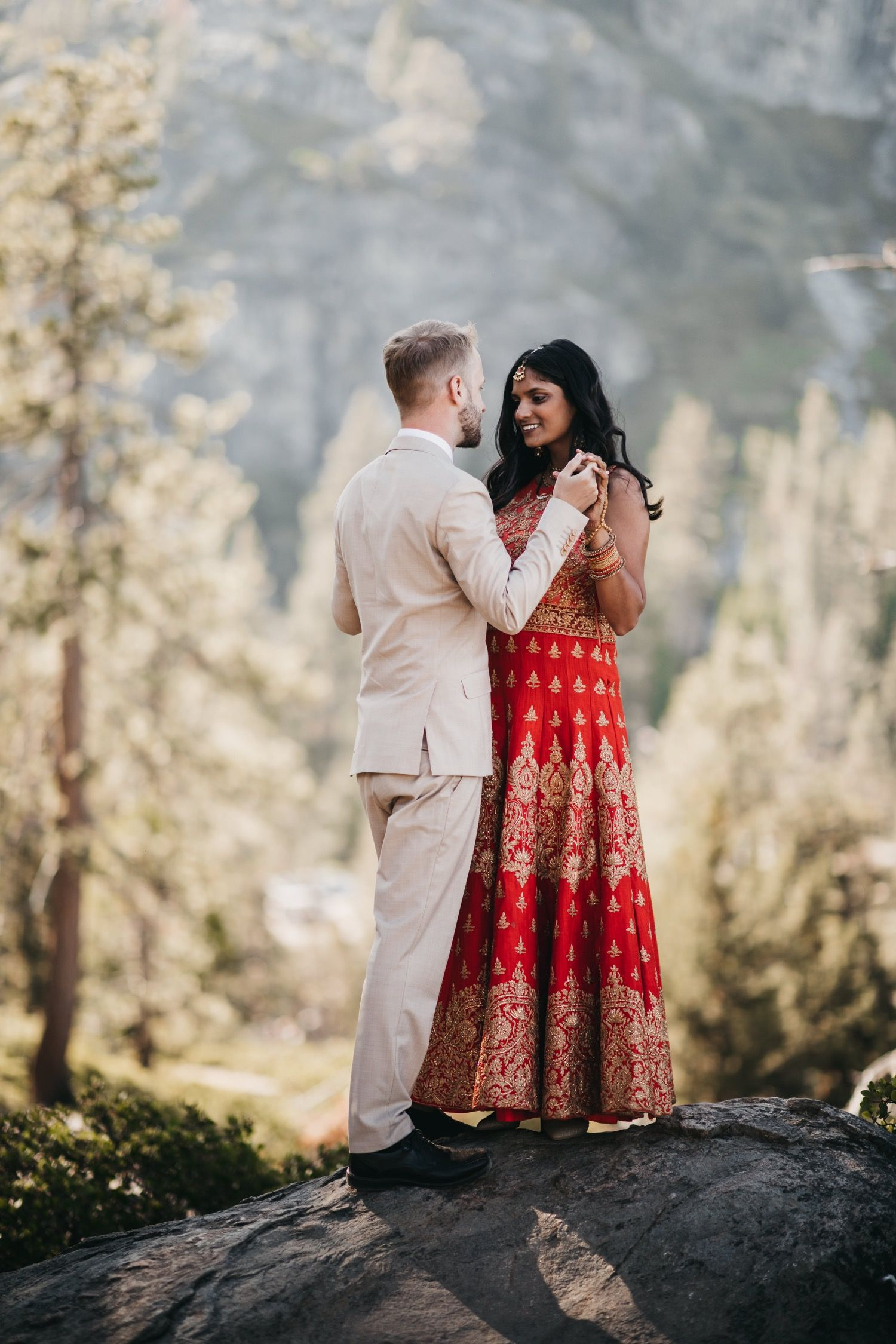 Amy jonass indian elopement at emerald bay in 2020