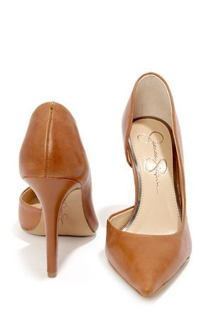 f92f73f025a Jessica Simpson Claudette Burnt Umber Leather D Orsay Pumps