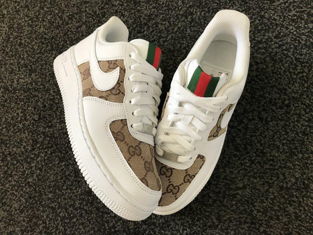 CUSTOM GUCCI X NIKE AIR FORCE 1 Nike air shoes, Nike