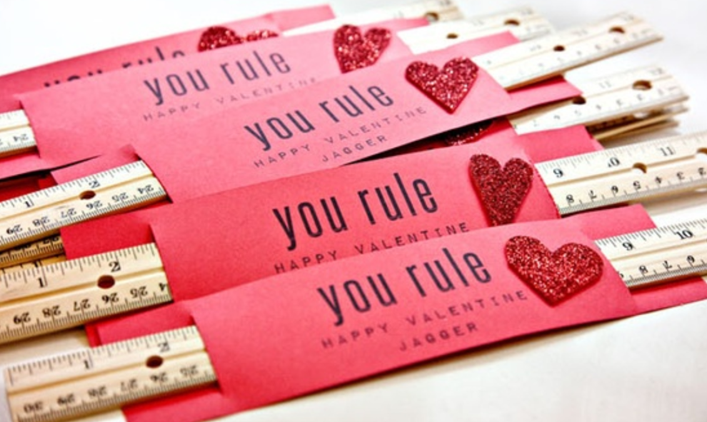 Show them how much they rule with a ruler valentine