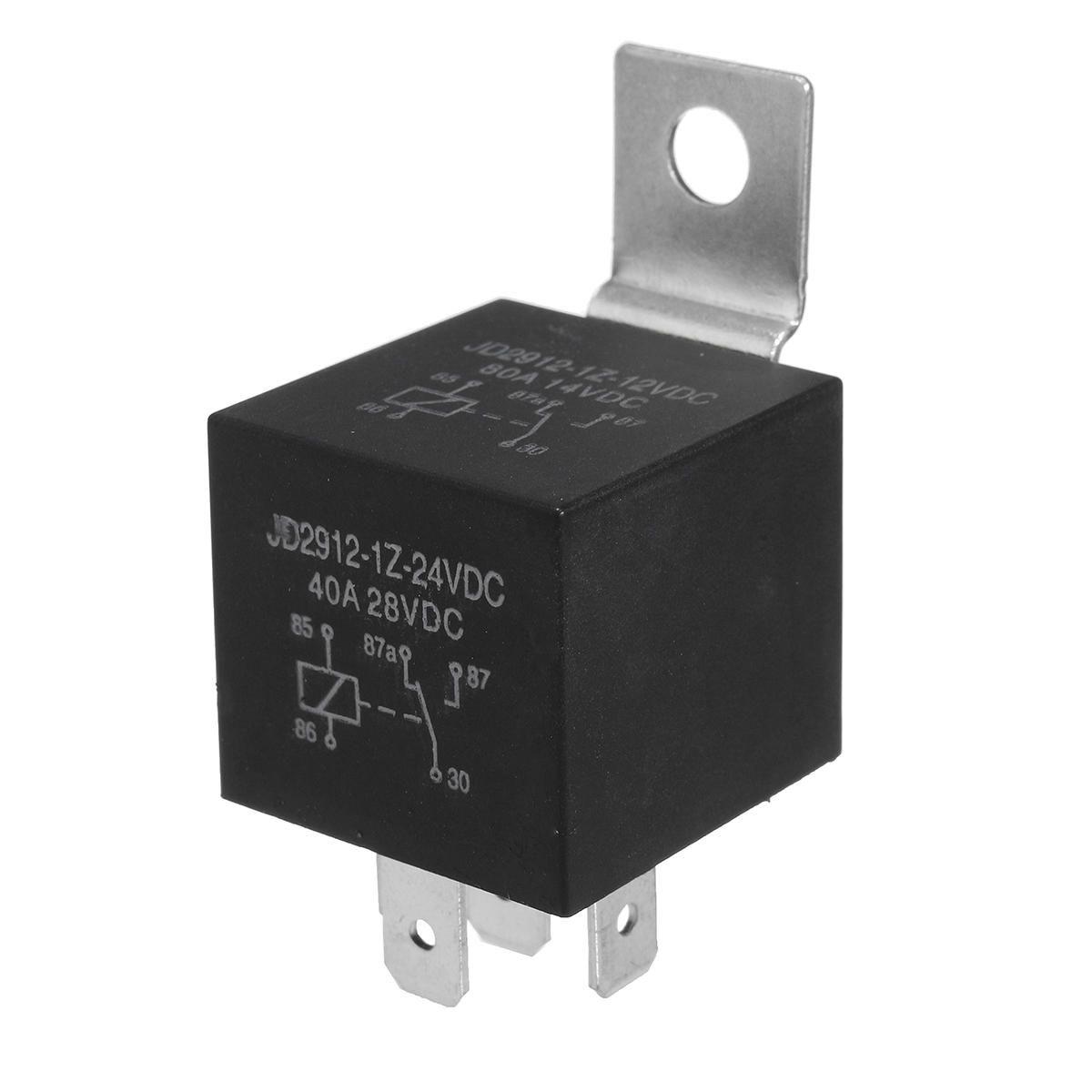 24v 5 Pins Relay Car Auto 20a 30amp Changeover Ry8 Detachable Bracket Resistor Car Electronics Gadgets Motorcycle