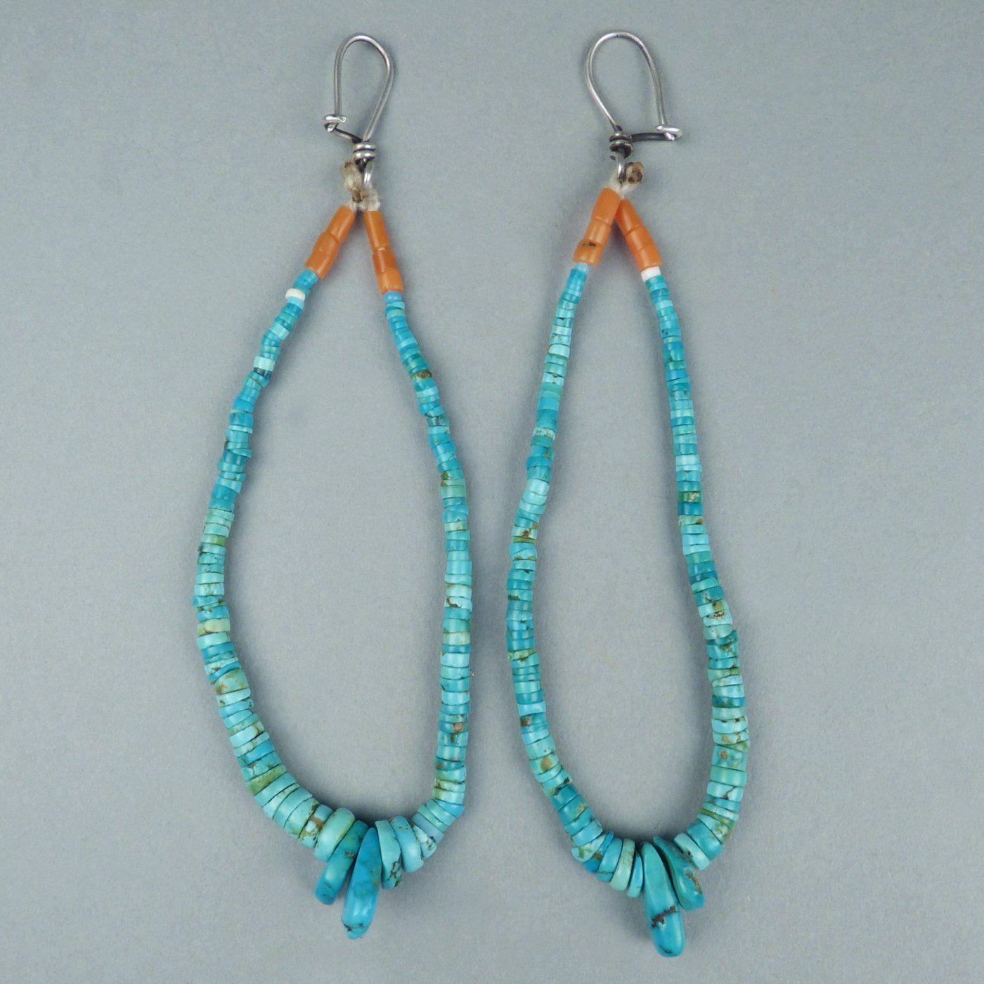 Navajo Turquoise Jocla Earrings | Shiprock Santa Fe ...