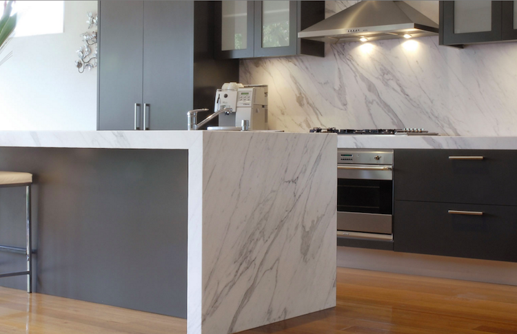 Would You Waterfall Minimalist Kitchen Kitchen Island Bench Kitchen Benches