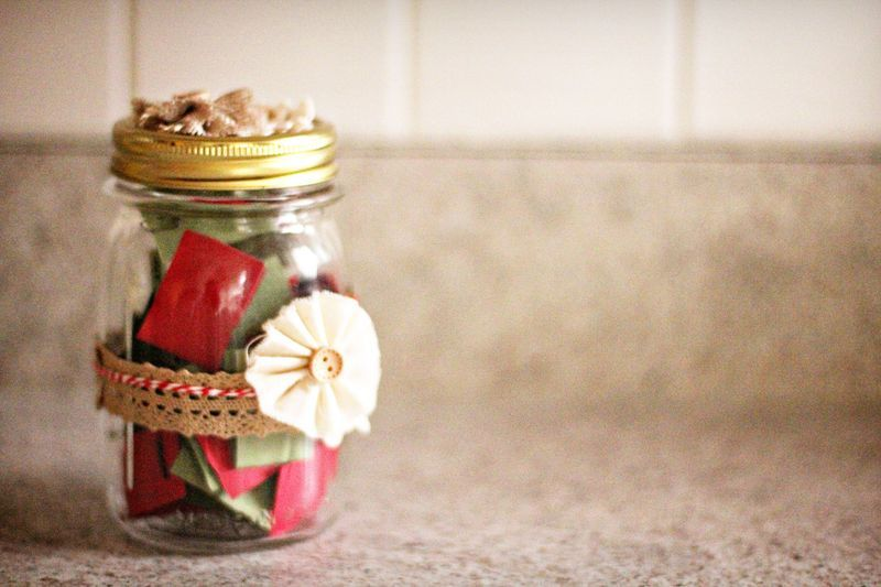 DIY Advent Jar To Get You In The Christmas Spirit. From