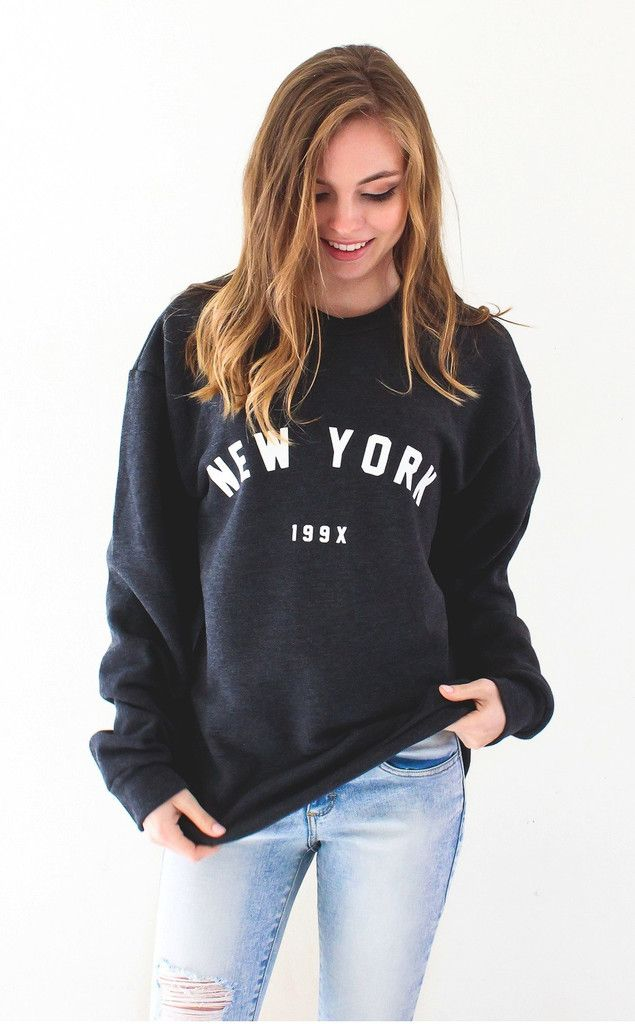e3bbe7ca Description - Size Guide Details: 'New York 199x' soft oversized crew neck  fleece sweater by NYCT Clothing. Unisex, oversized/loose fit.