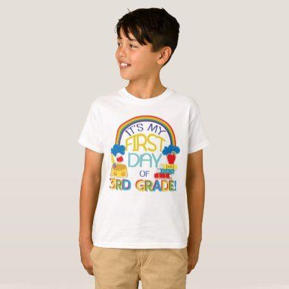 1st Day Of School 3rd Grade Funny T Shirt Gifts Kids Stuff