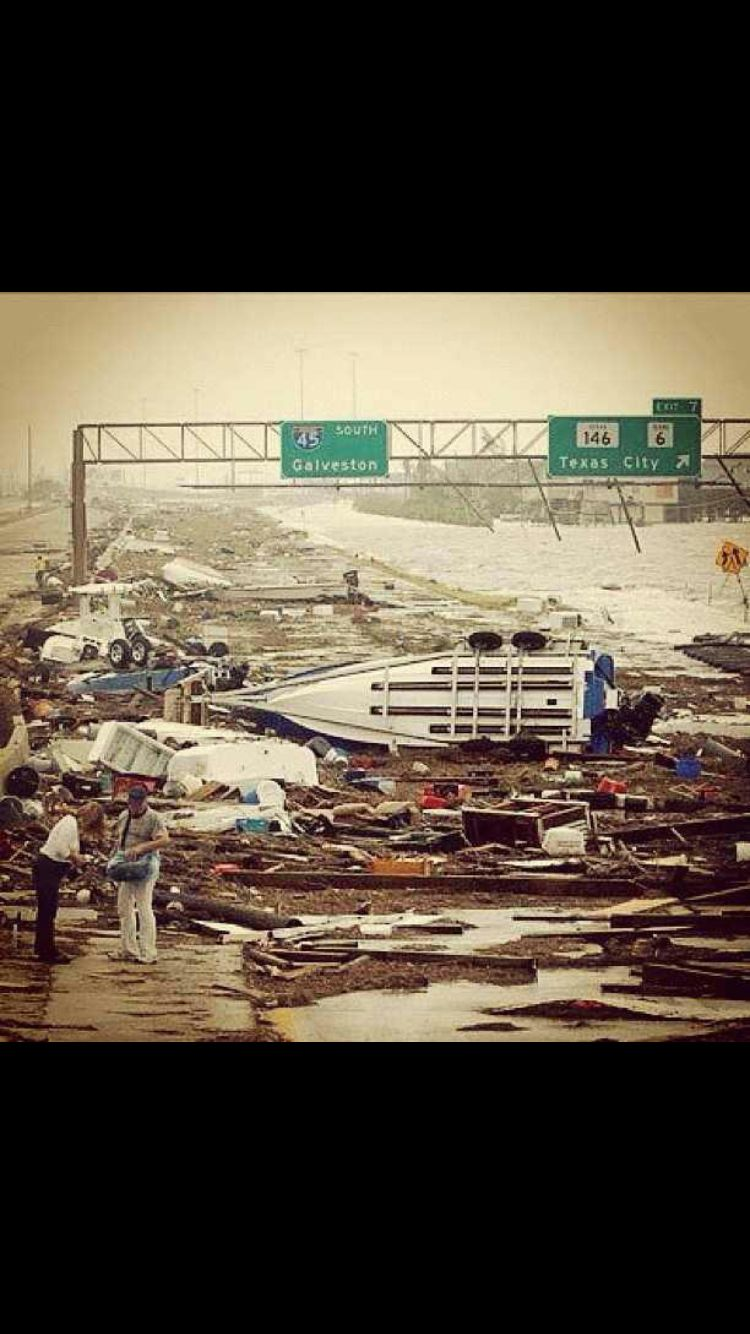I45 after Hurricane Ike Galveston texas, Galveston