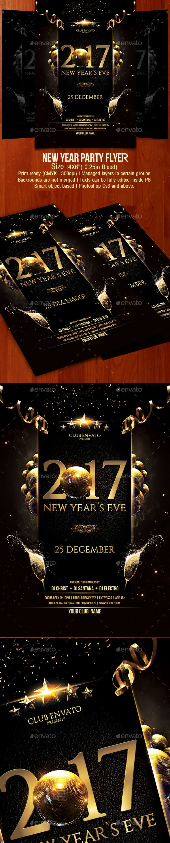 New Year Party Flyer  Party Flyer Flyer Design Templates And