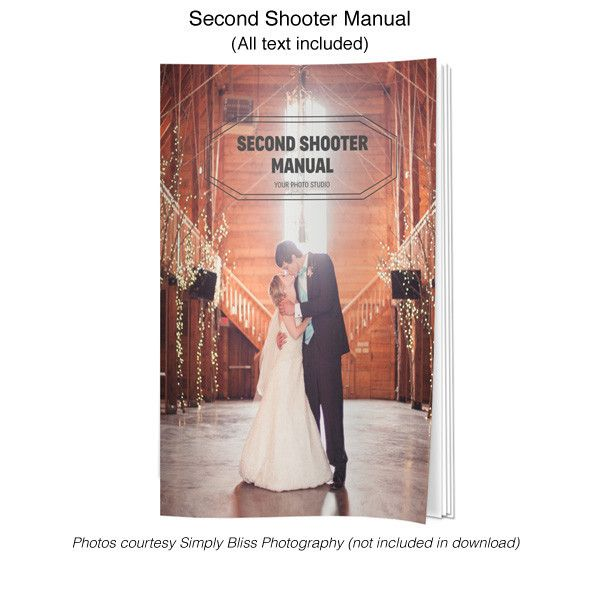 Get Your Second Shooter Wedding Photographer Assistant Manual And Customize It Today At