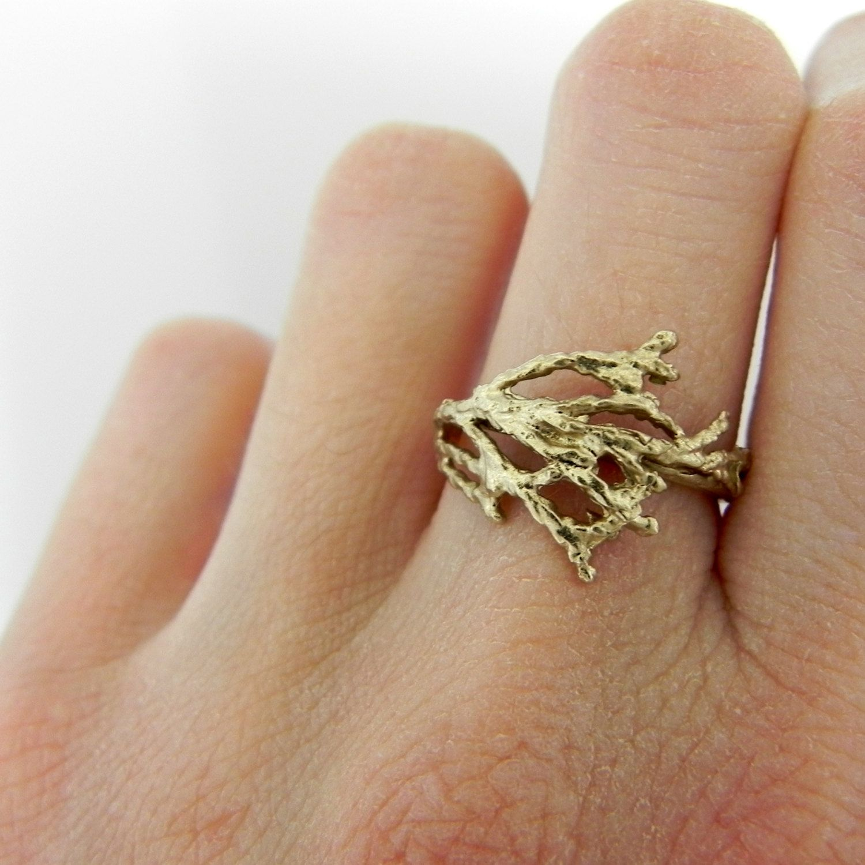 Branch Ring. 75.00, via Etsy. Alternative wedding rings